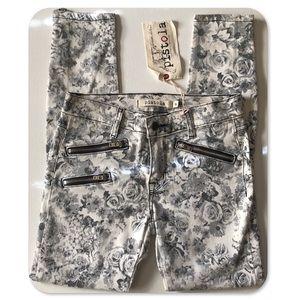 🏆HPx2!🏆Pistola Floral Skinny Jeans